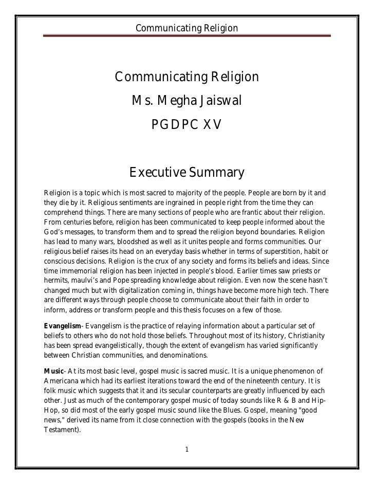 Communicating Religion                       Communicating Religion                             Ms. Megha Jaiswal         ...