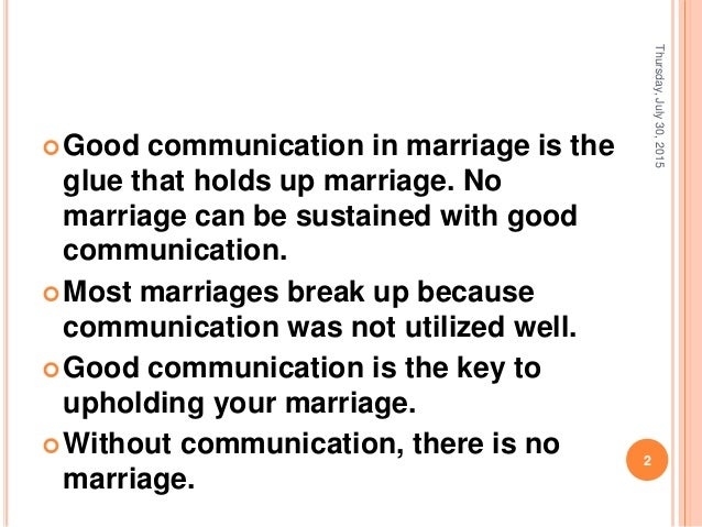 Communicating With Your Spouse
