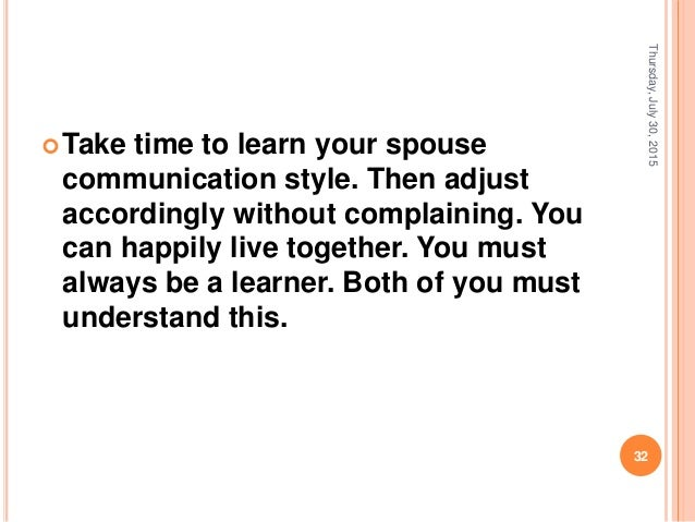 How to improve communication with your spouse