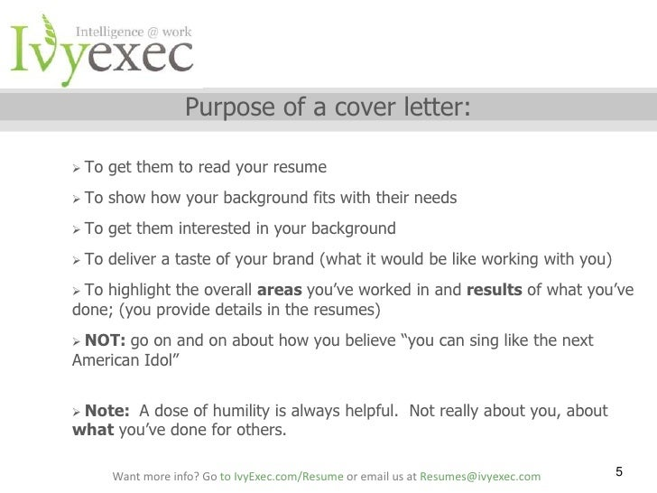 municating Your Fit in a Cover Letter Staci Collins and Ivy Exec