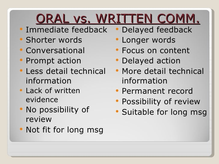 verbal and written communication Specify why written communication was the best method  because then you  may give the impression that you are not good with verbal communication.