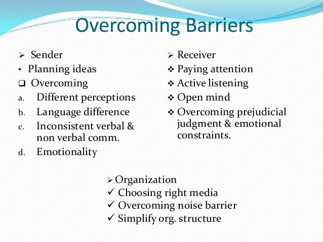 process personal physical and semantic barriers Semantic barriers of  these words can be interpreted wrongly when used unknowingly causing the semantic barrier in a communication process  physical barriers.