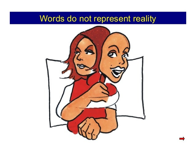 Words do not represent reality