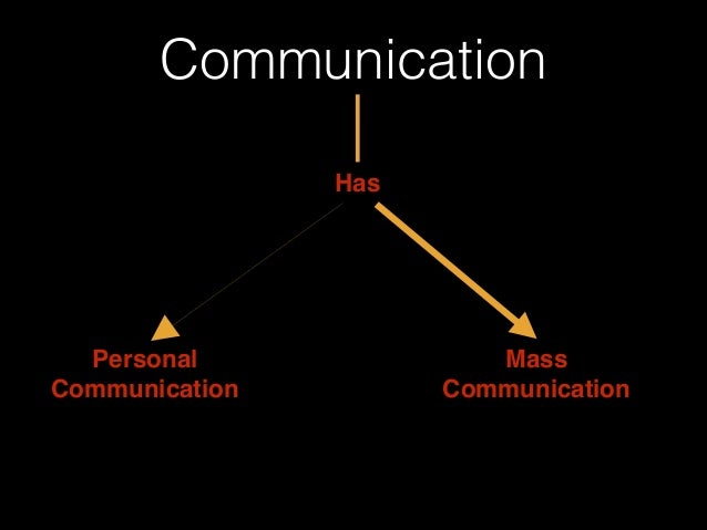 Communication Has Personal! Communication Mass! Communication