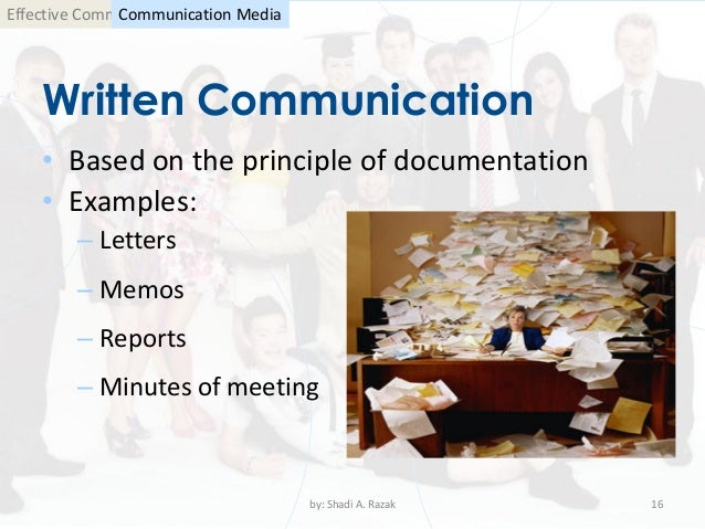 Examples of written communication in business