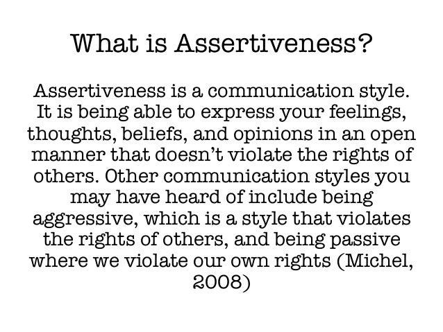 Communication – Assertive Communication Worksheet