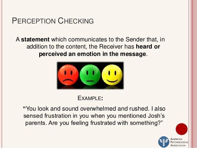 perception checking statement