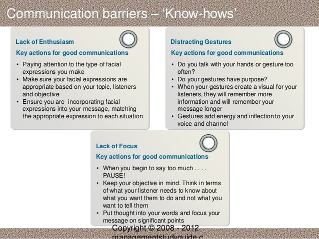 message complexity in communication barriers Lecture notes business communication a  understanding of what is effective communication, common barriers to  volume & complexity of communication in.
