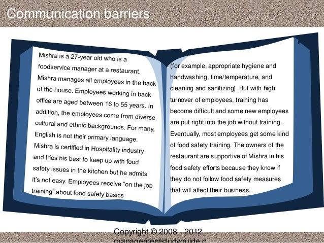 case study communication barriers 61 summary of enablers in case studies 13 62 summary of barriers in case studies 14 ipe six case studiesindd 1 03/07/2013 (for communication.
