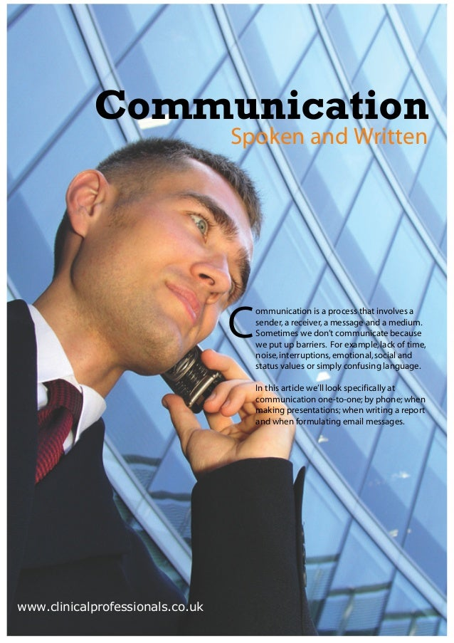 Communication                                  Spoken and Written                                  C                      ...