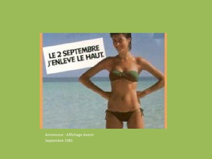 Affiche Myriam <ul><li>Annonceur : Affichage Avenir  </li></ul><ul><li>Septembre 1981 </li></ul>