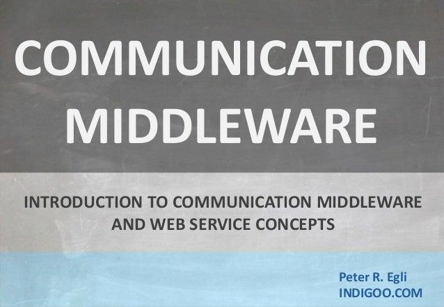 © Peter R. Egli 2015 1/17 Rev. 1.80 Introduction to Middleware and Web Services indigoo.com Peter R. Egli INDIGOO.COM INTR...