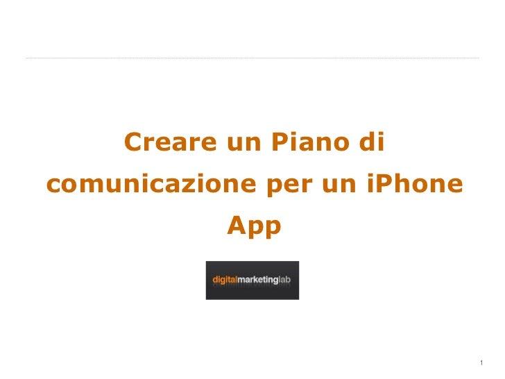 Creare un Piano di comunicazione per un iPhone App