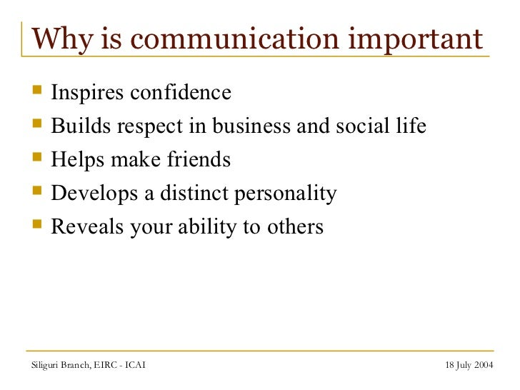 importance of communication skills in professional life
