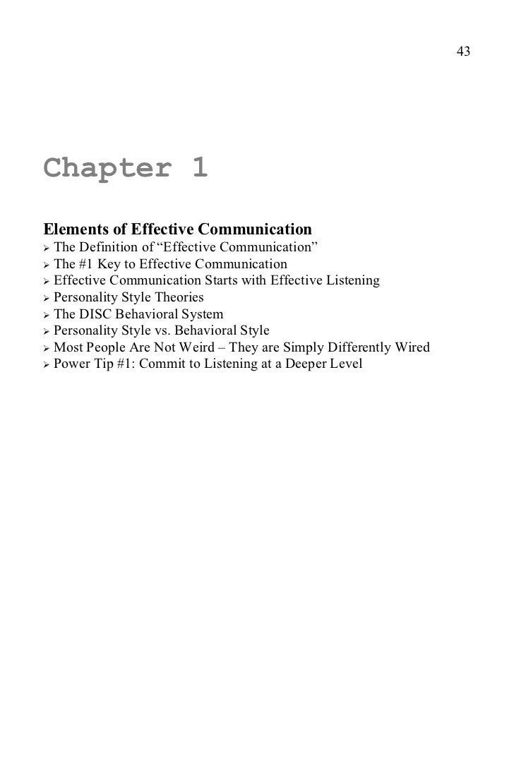 communication skills magic e book chapters