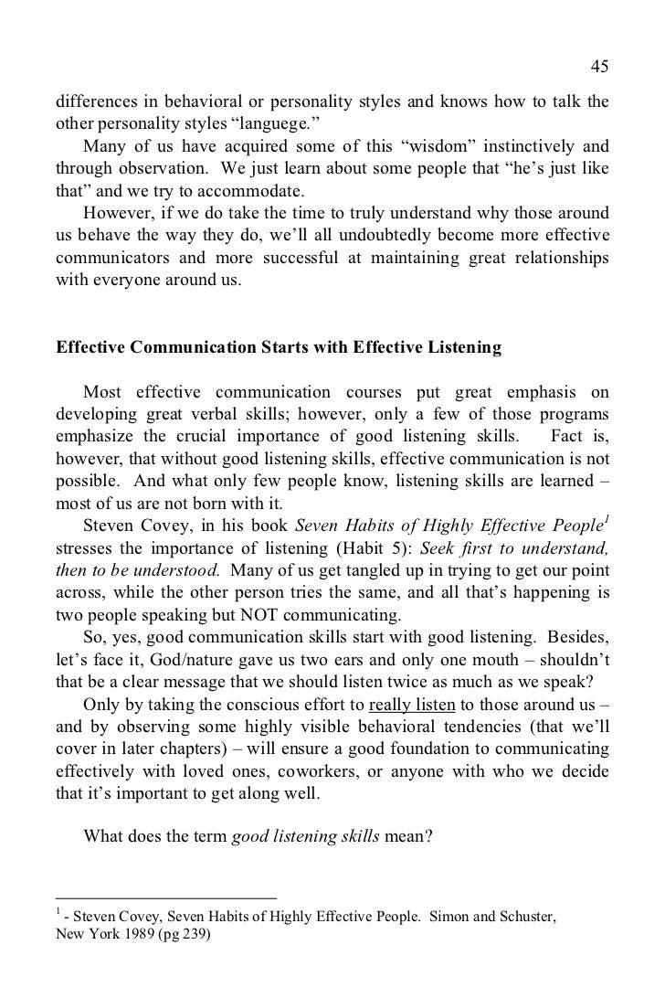 communication skills magic e book chapters 45
