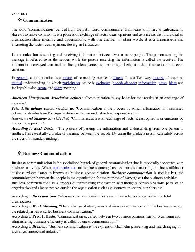 BusinessCommunication 1st chapter