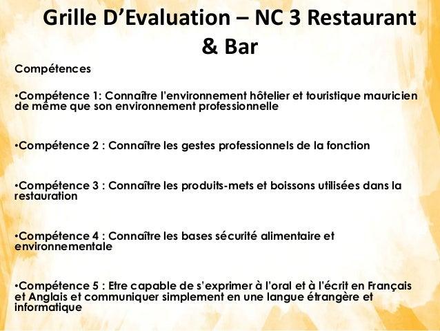 Mise en place d 39 un cadre sectoriel de qualification - Grille des competences professionnelles ...