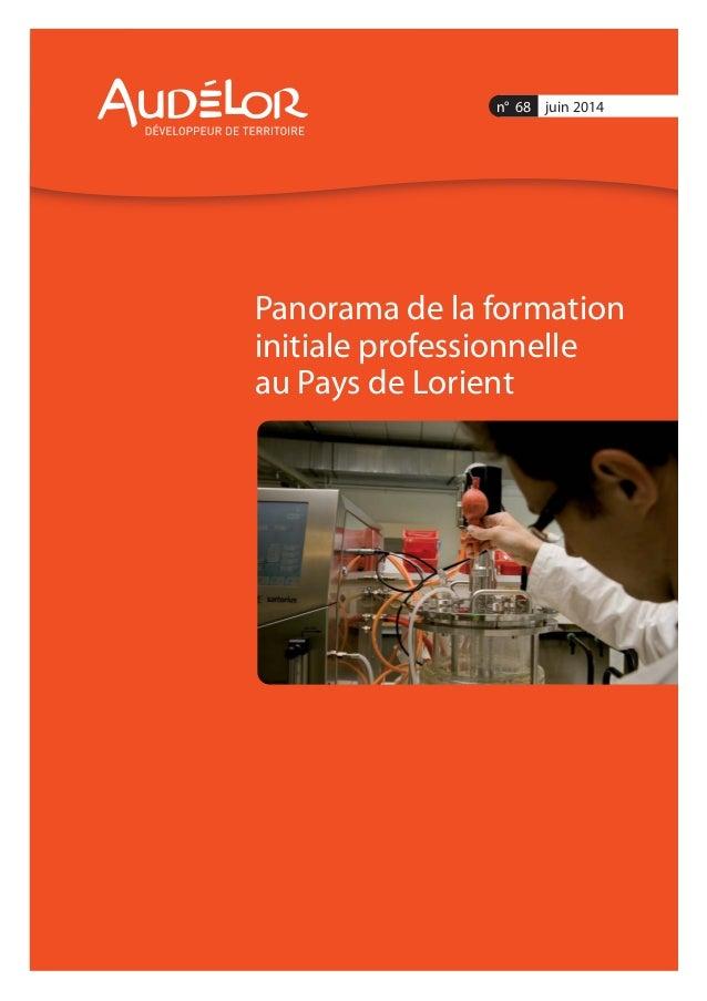 Panorama de la formation initiale professionnelle au Pays de Lorient n° 68 juin 2014