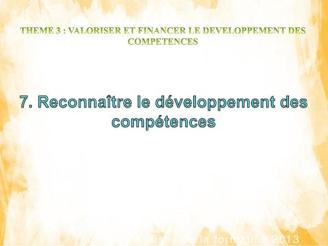 Assises de la formation 2013 Référent Madagascar : Nom Prénom Entité Fonction Référent Extérieur : Nom Prénom Entité Fonct...
