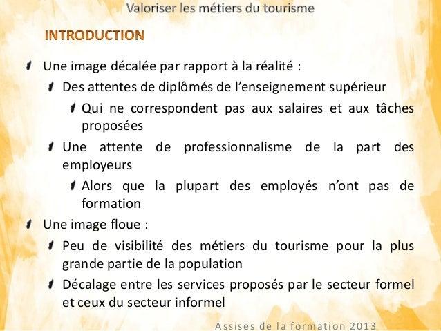 Valorisation des métiers du secteur tourisme Slide 3
