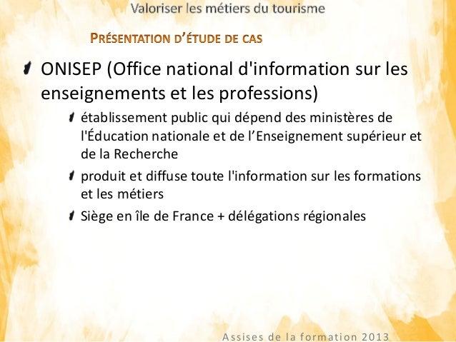 Valorisation des m tiers du secteur tourisme - Office national du tourisme madagascar ...