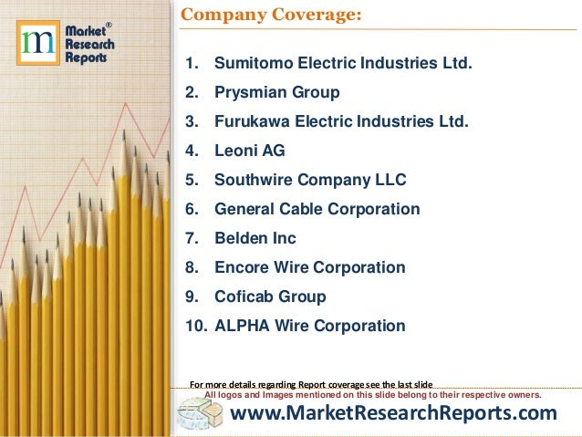 Communication and Energy Wire and Cable Market Global Briefing 2017