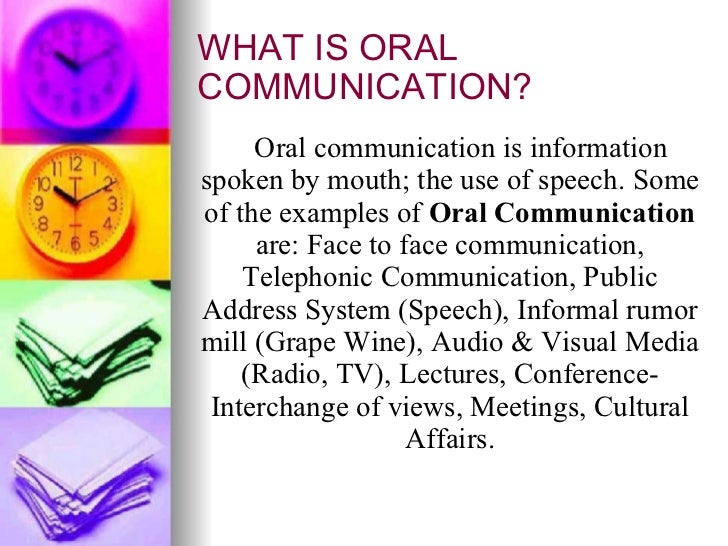 Example Of Oral Communication 11