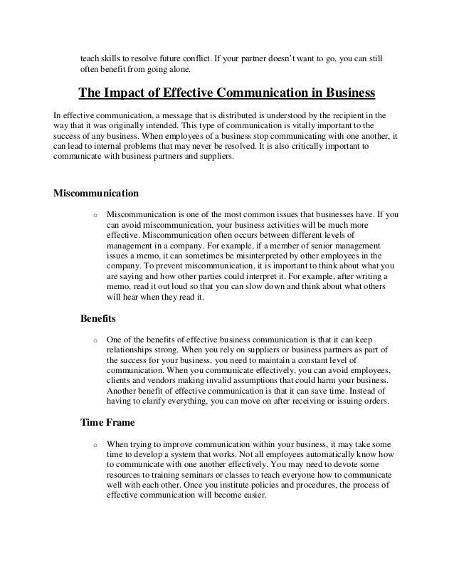 Social management and effective communication essay