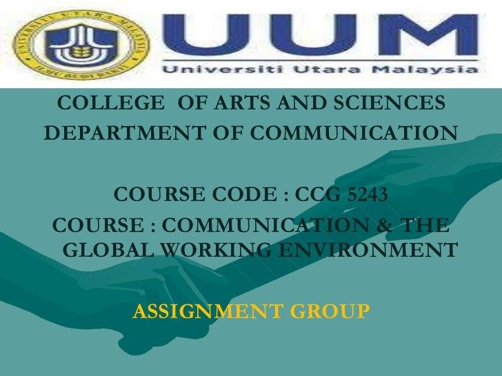 Communication degrees