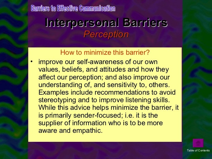 what is perception in interpersonal communication Perception is the process which people are aware of objects and events in it is a fundamental process in all interpersonal communication encounters.