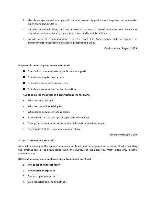 Communication audit process. | download scientific diagram.