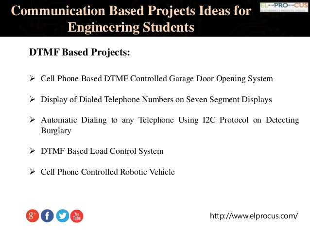 Communication Based Projects Ideas For Engineering Students