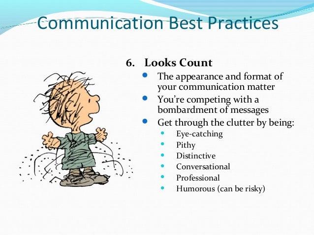 communication best practices  west conn presentation
