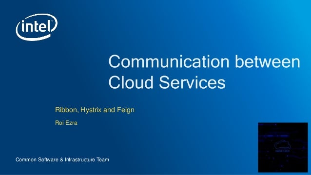 Communication between cloud services