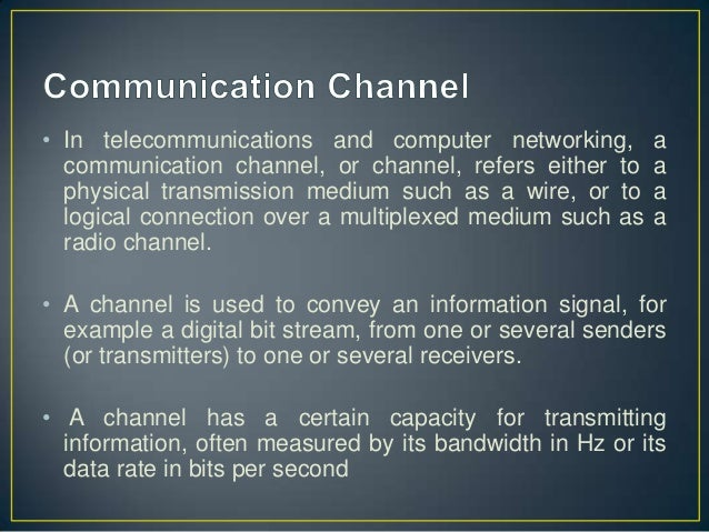 Formal and Informal Communication Channels
