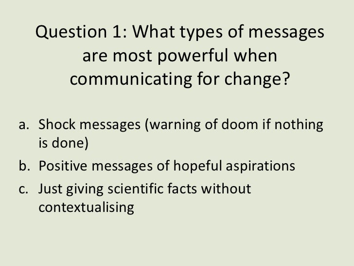 Communicating for change in our climate response Slide 2