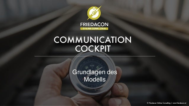 COMMUNICATION COCKPIT Grundlagen des Modells © Friedacon Online Consulting | www.friedacon.at
