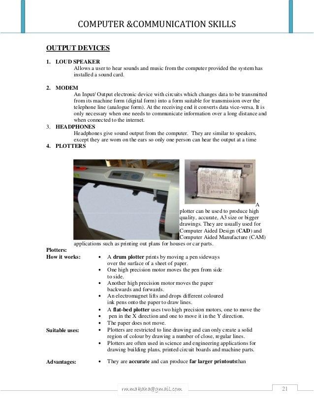 computer communication skills - Sound Computer Skills