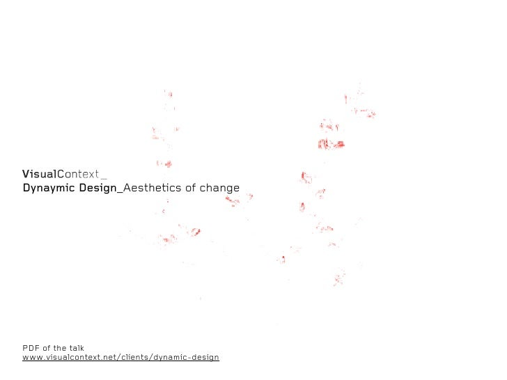 Dynaymic Design_Aesthetics of changePDF of the talkwww.visualcontext.net/clients/dynamic-design