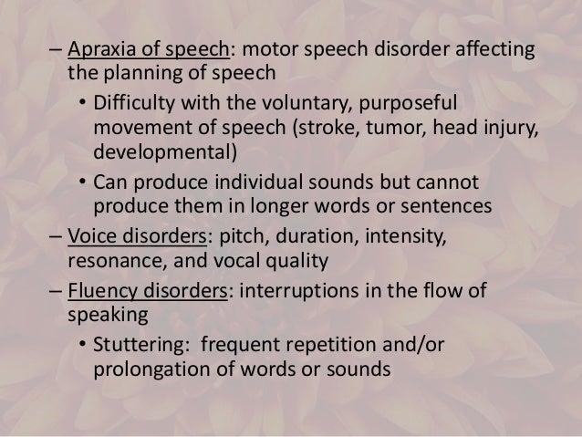 Communication disorder sped for Motor planning disorder symptoms