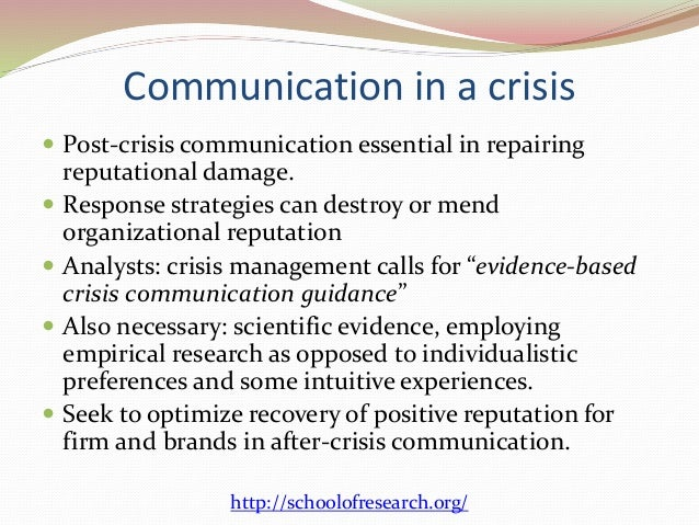 The Role of PR in Crisis Management