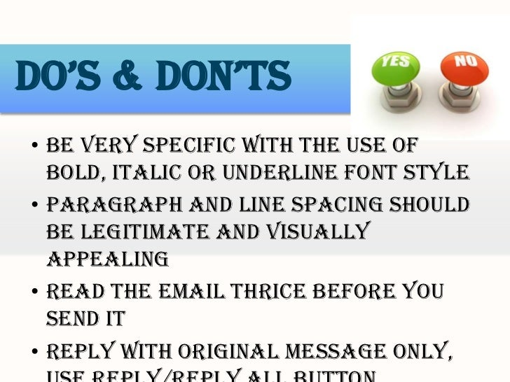 email dos and donts etiquette