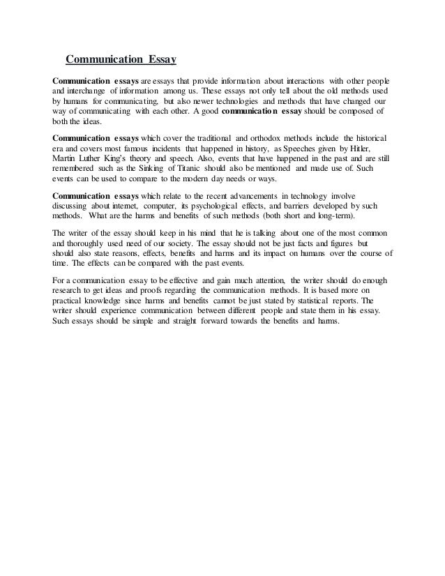Essay on communication american essay writing companies