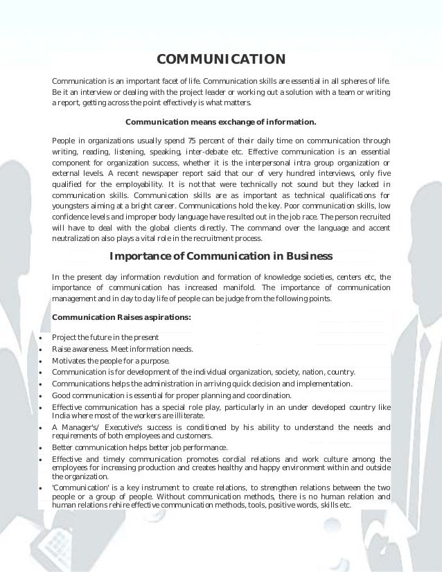 Business Communication (skills, importance & role)
