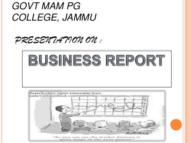 GOVT MAM PGCOLLEGE, JAMMUPRESENTATION ON :