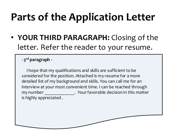 Now Write Your Third Paragraph 25 Parts Of The Application