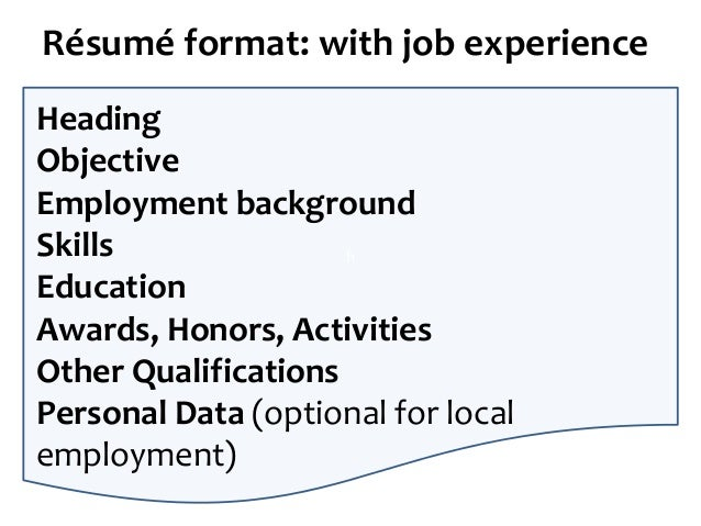 Communication for employment: Writing the application