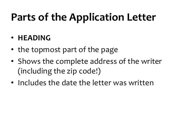 communication for employment  writing the application