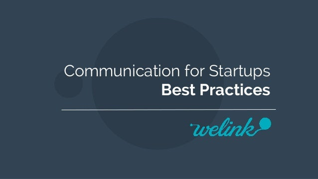 Communication for Startups Best Practices